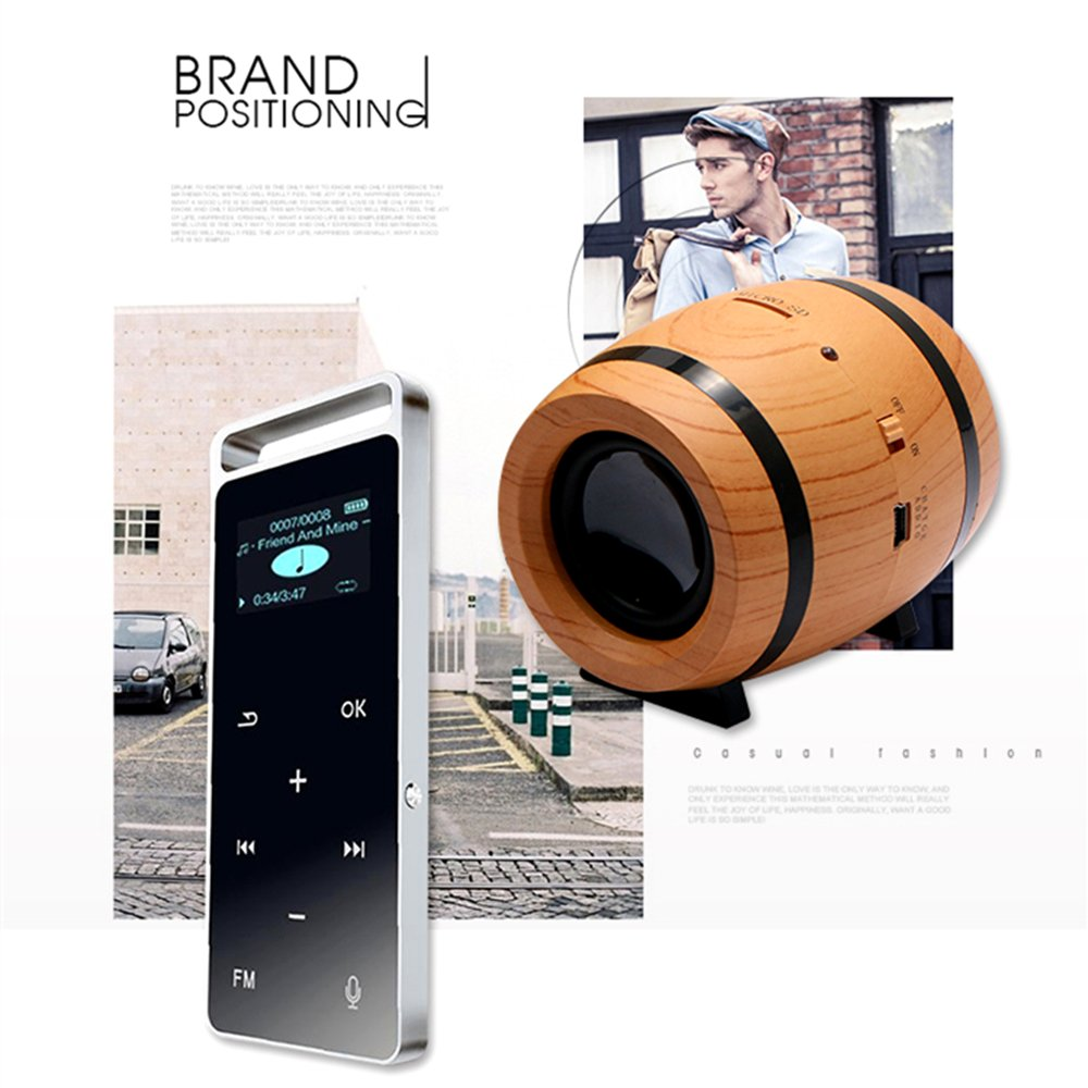 KINGEAR Double Horn Mini Portable Speaker Beer Bucket Creative Wireless Speaker with DSP Decoding MP3 and SBC Functions by KINGEAR (Image #9)