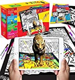 "New Generation Go Alive TIGER Velvet Jigsaw Puzzle: Top Kit of 15""x19"" Coloring Puzzle + Washable Markers