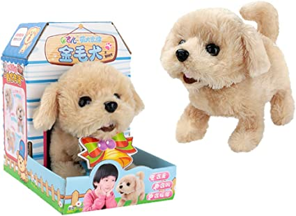 Walking /& Barking Plush Puppy Dog Stuffed Dog Animal Toy Gift for Kids White