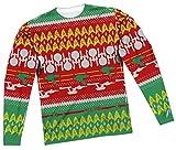 Ugly Christmas Sweater -- Star Trek All-Over Long-Sleeve T-Shirt, XXX-Large
