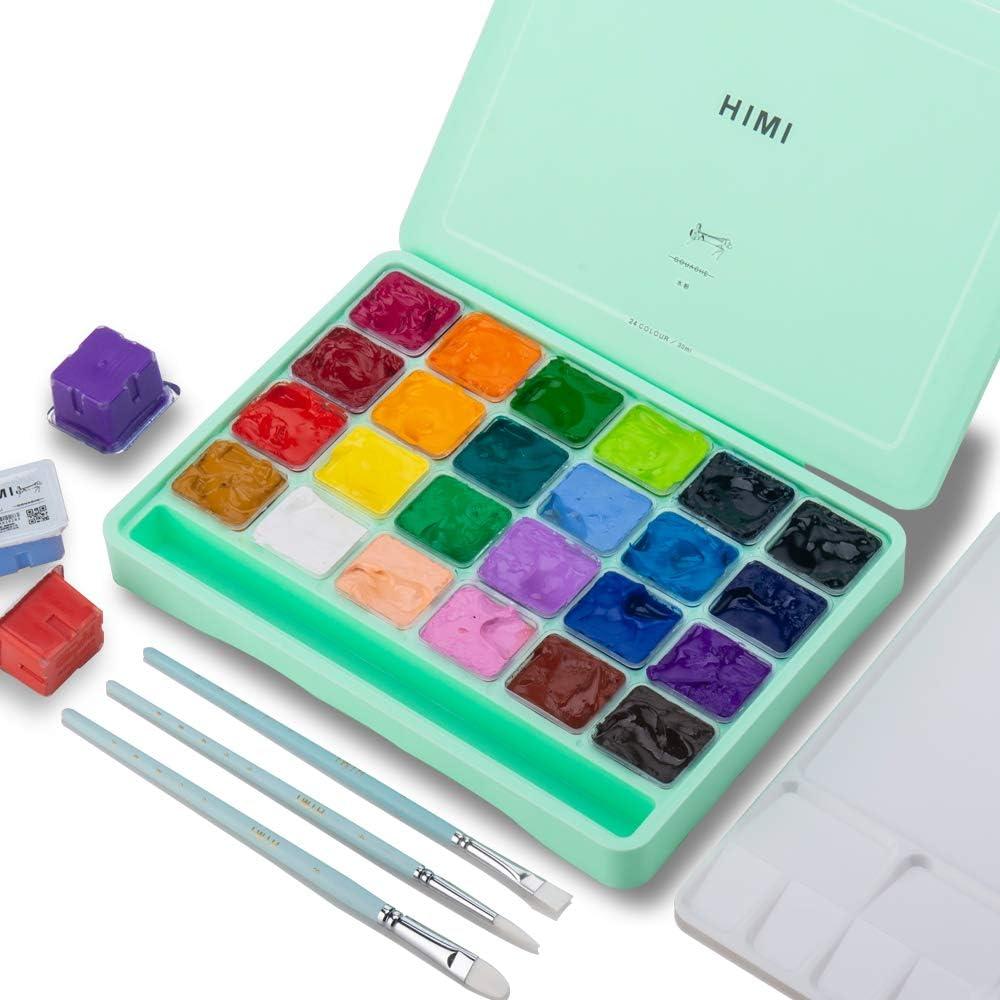 HIMI Gouache set de 24 colores 30ml (caja verde)