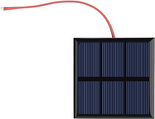 El Panel Solar de 0.7W 1.5V, Mini Cargador Solar Portátil del Módulo de Poder de La Célula DIY para La Batería 1.2V con El Alambre, 2.76x2.76Inch: Amazon.es: Hogar