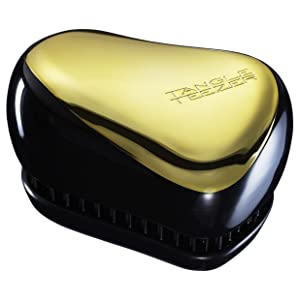 Tangle Teezer Compact Styler Professional Detangling Hair Brush - Black and Gold