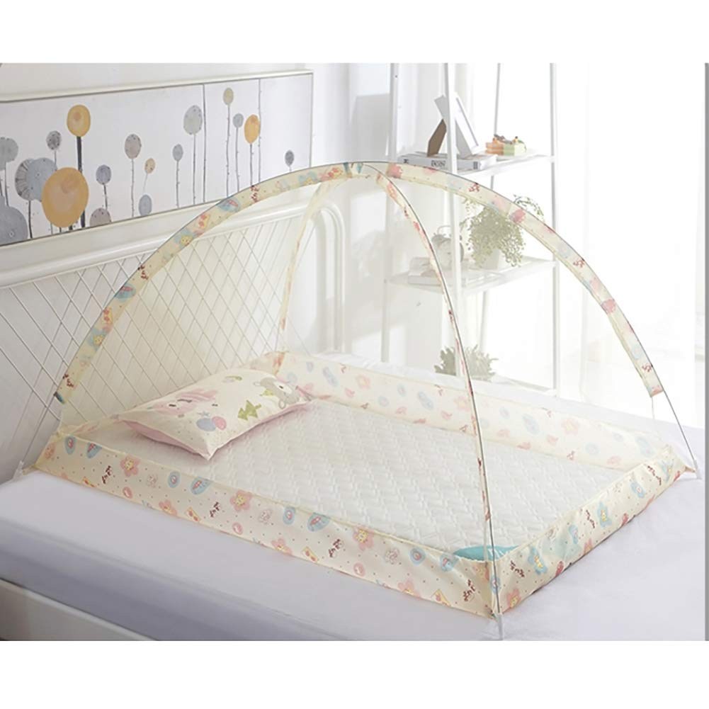 YZW Foldable Baby Mosquito Net,Safe Comfortable Portable Dome Cover for Easy to Use-b Free Size