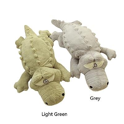 BIBITIME Big Light Green Crocodile Toy Stuffed Cartoon Chinese Alligator Pillow, 85 cm & 33.46 in: Home & Kitchen