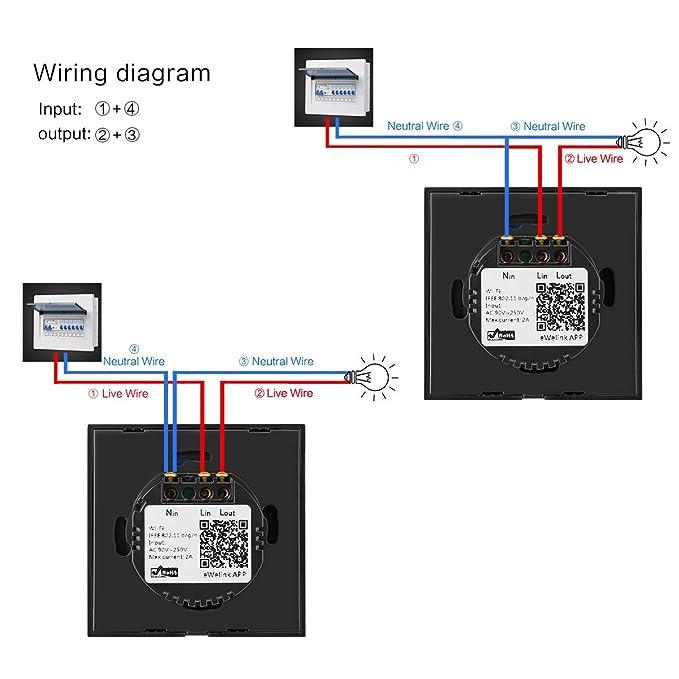 Sonoff WiFi Smart Touch Leuchte Switch Arbeitet mit Amazon Echo/Echo ...