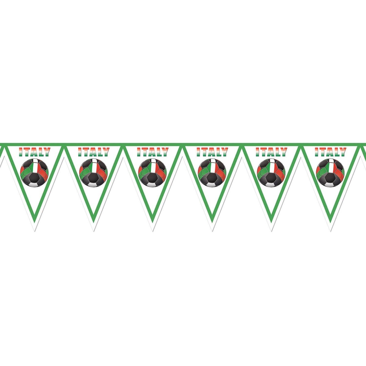 Pack of 6 Red, Green and White ''Italy'' Soccer Themed Pennant Banner Party Decorations 7.4'