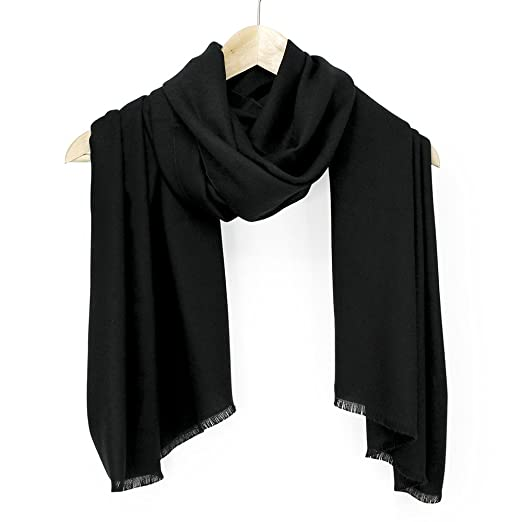 ec39015c7 Oct17 Women Large Scarf Soft Cashmere Feel Pashmina Warm Shawls Wraps  Winter Fall Scarfs Solid Color