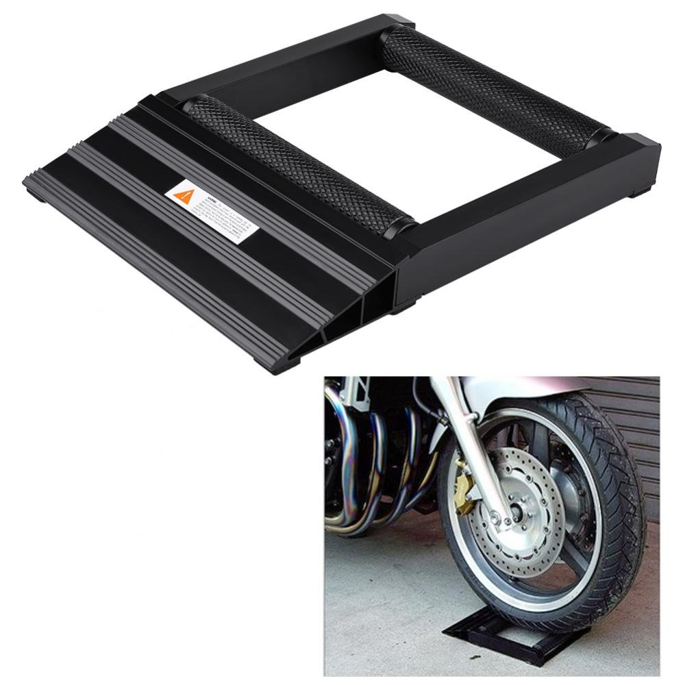 Motorbike Wheel Stand for Wheel Cleaning and Chain Maintenance for Front and Rear Wheels Maximum Load Capacity Aluminium 400 kg
