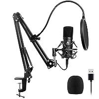 BINDEN Kit de Micrófono Condensador A04 Cardioide con Brazo Plegable Plug & Play USB para Podcasts Llamadas Grabaciones…