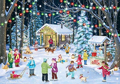Woodland Skaters Advent Calendar - Countdown to Christmas