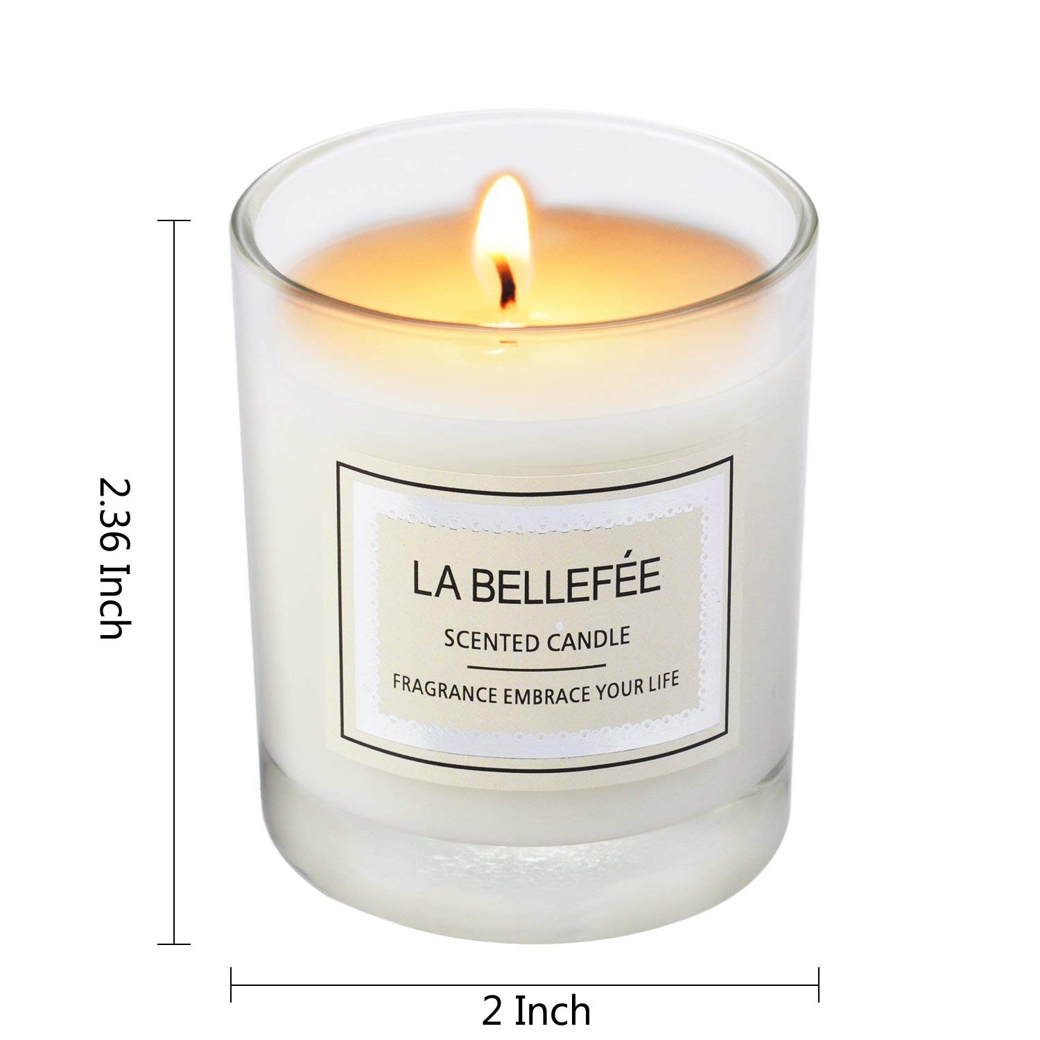 100/% Cotton Wick Votive Candle for Outdoor and Indoor LA BELLEF/ÉE Scented Natural Bluebell-3 Pack Gift Set LA BELLEFÉE LA BELLEFÉE0002 Aromatherapy Soy Wax Blood Orange Fragrances of Pear /& Freesia
