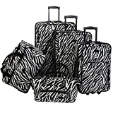 American Flyer Luggage Animal Print 5 Piece Set, Zebra Black, One Size