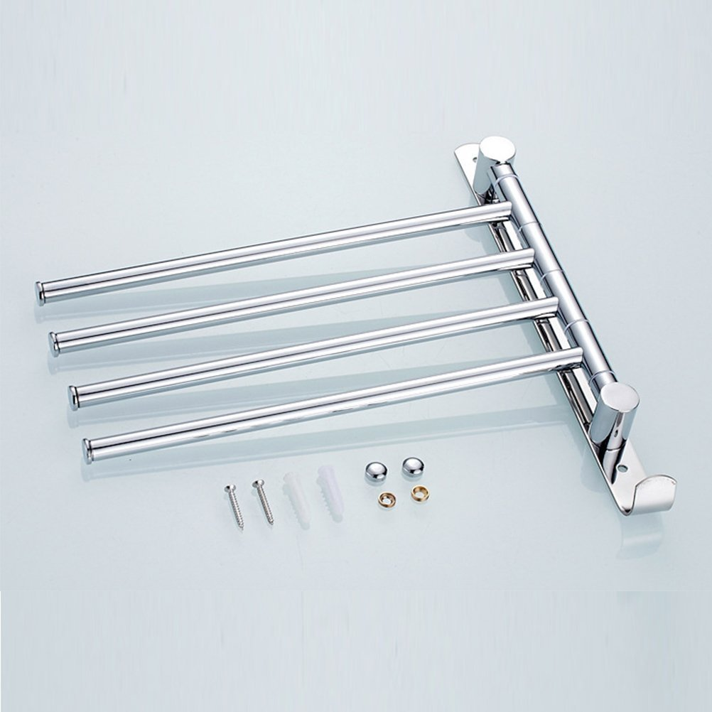 Black margueras 1pcs with 180//° Rotating 4/Rod Towel Rail for Bathroom//Kitchen//Sink