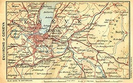 Amazon.com: SWITZERLAND. Environs of Geneva - 1930 - old map ... on vienna map, lake geneva, genoa map, zurich map, wittenberg on map, munich map, helsinki map, trent map, lapland map, rhone river map, cadiz map, sardinia map, swiss map, the hague map, africa map, singapore map, corsica map, europe map, john calvin, switzerland map, sweden map, zürich, ashtabula map,