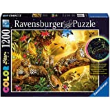 Ravensburger Golden Leopards Color Starline Glow-in-The-Dark Puzzle (1200-Piece)