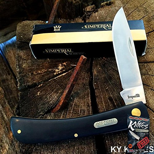 (SCHRADE Black Imperial Large SOD BUSTER Straight Folding Pocket Elite Knife IMP22L + free eBook by ProTactical'US)