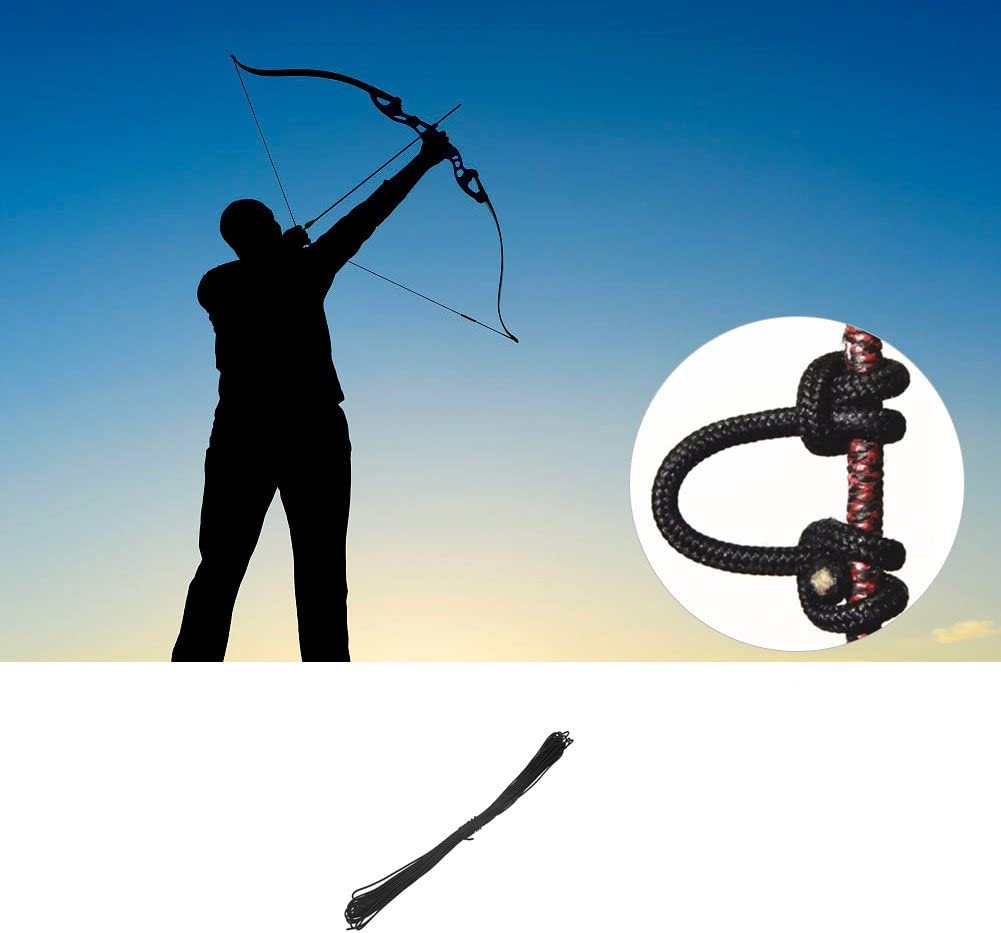 3 Pack Black Archery Release Bow String Nock D Loop Bowstring