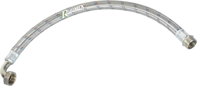 3x23x23 cm Ribimex PRSTTF70 Tubo Inox Intrecciato 70 cm Argento