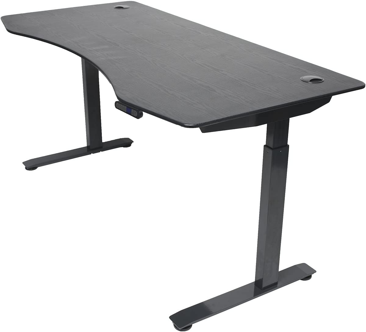 ApexDesk Elite Series 60 W Electric Height Adjustable Standing Desk Memory Controller, 60 Black Top, Black Frame