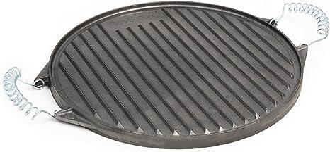 32 cm redondas plancha de hierro fundido con extraíbles ...