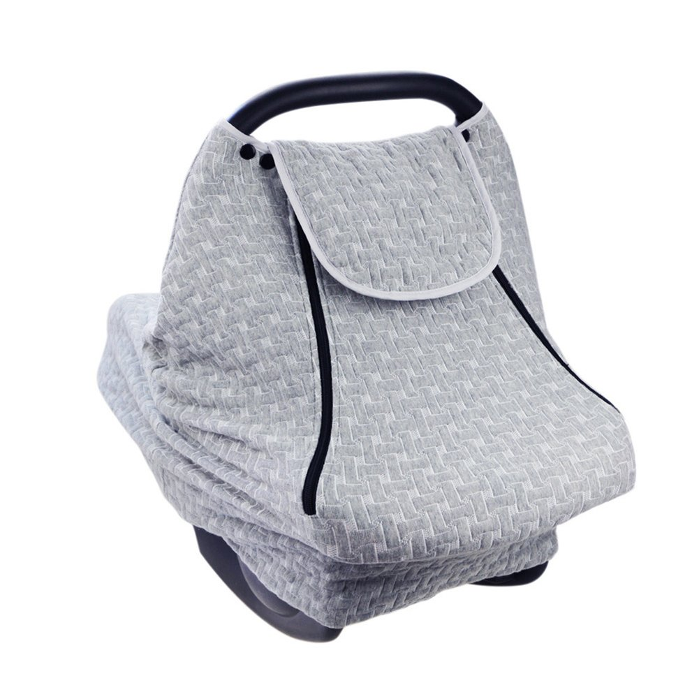 PROKTH Baby Stroller Gray Air Layer Mosquito Net, Sun Protection Sunshade Heat Insulation Cooling Polyester Cotton Cover Towel Sunshield by PROKTH (Image #8)
