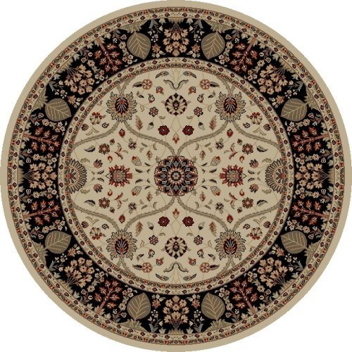 Concord Global Trading Concord Global Jewel Venessa Ivory Round Rug - 5'3