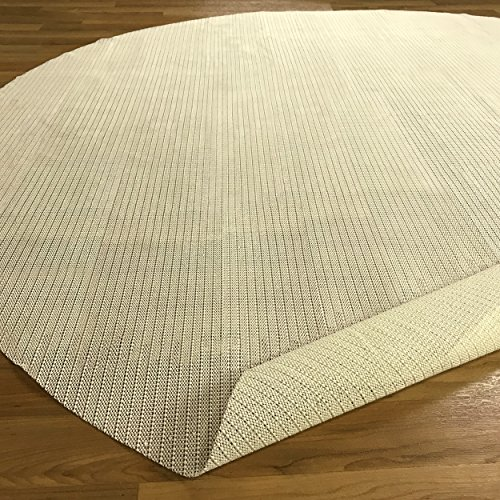 Blue Nile Mills Premium Easy Install Light-Weight Strong Grip Textured Rubber, Slip-Resistant Reversible Beige Hard Floor Surface and Under Rug Protection Area Rug Pad (Non Round Slip Rug)