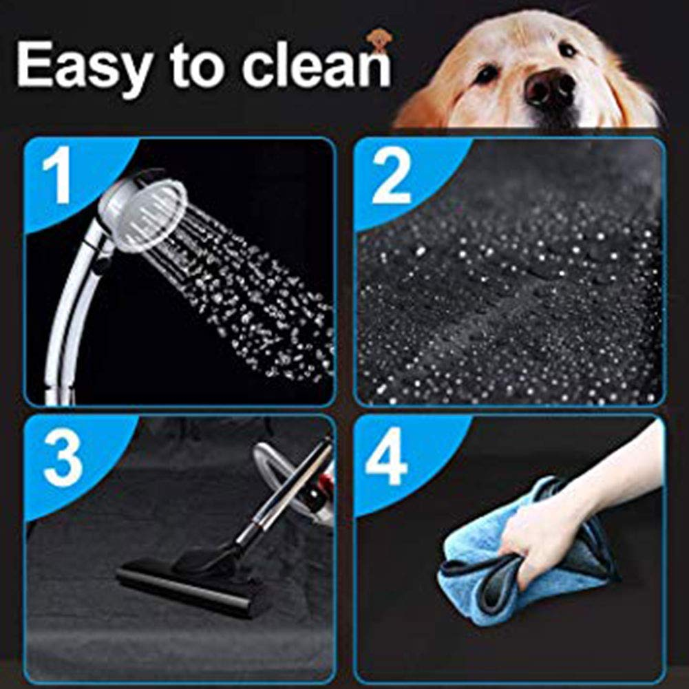 Iswell Car Boot Liner Protector Universal Impermeable Perro Carga Cubierta Estera con Paredes Laterales Protector Lavable Durable Pet Cargo Liner Impermeable Auto Mat Perros Cubrir