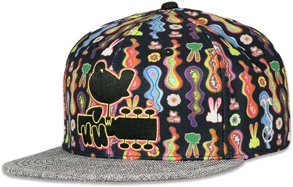 Grassroots California Woodstock Psychedelic Lava Fitted Hat