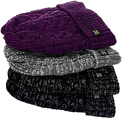 Womens Polar Extreme Insulated Thermal Knit Cuffed Beanie in 4 Great Colors