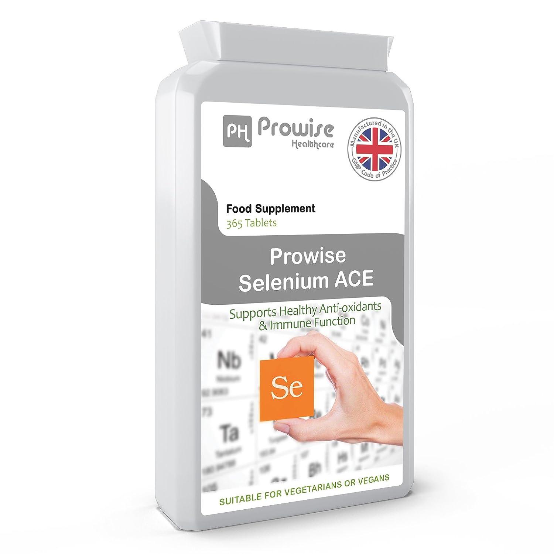 Prowise Selenium ACE 365 Tablets - Suplemento de selenio diario de One Per Day con vitaminas A, C y E: Amazon.es: Salud y cuidado personal
