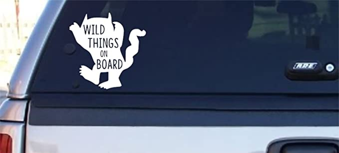 Graphics and More Where The Wild Things are March Automotive Car Window Locker Circle Bumper Sticker