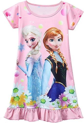 AOVCLKID Little Girls Princess Pajamas Toddler Nightgown Dress Halloween Costumes