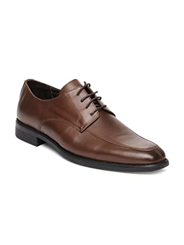 13433c207f4 Van Heusen Men Brown Leather Derby Formal Shoes (11UK)  Buy Online ...