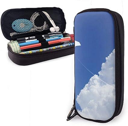 Estuche de papel para lápices de avión, estuche para bolígrafos, estuche antigolpes para estudiantes, niñas, adolescentes, niños y adultos: Amazon.es: Oficina y papelería