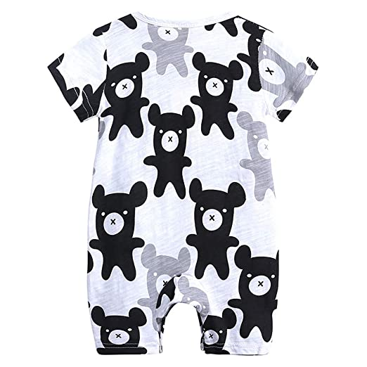 ab79986e5e Yamally Toddler Tank Tops Baby Boy Clothes Girl Dinosaur Overall Vest  Jumpsuit (0-3