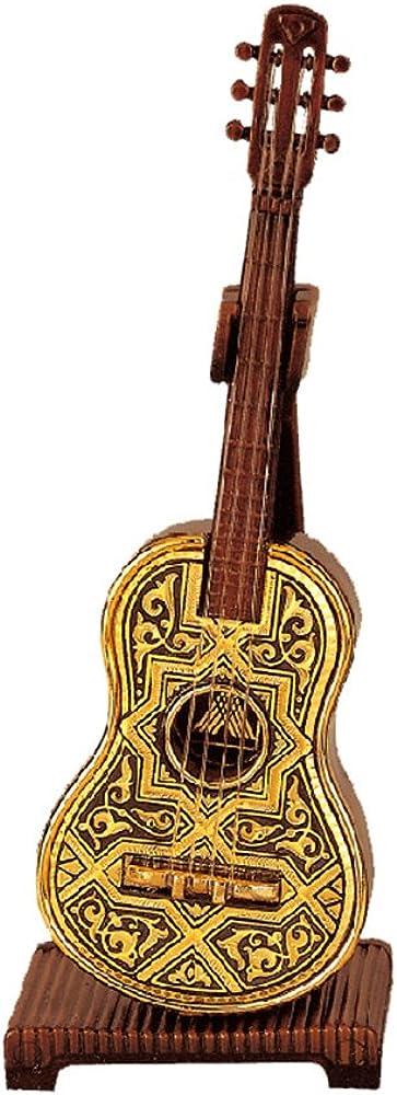 Guitarra árabe de metal en oro damasquinado 24K: Amazon.es: Joyería