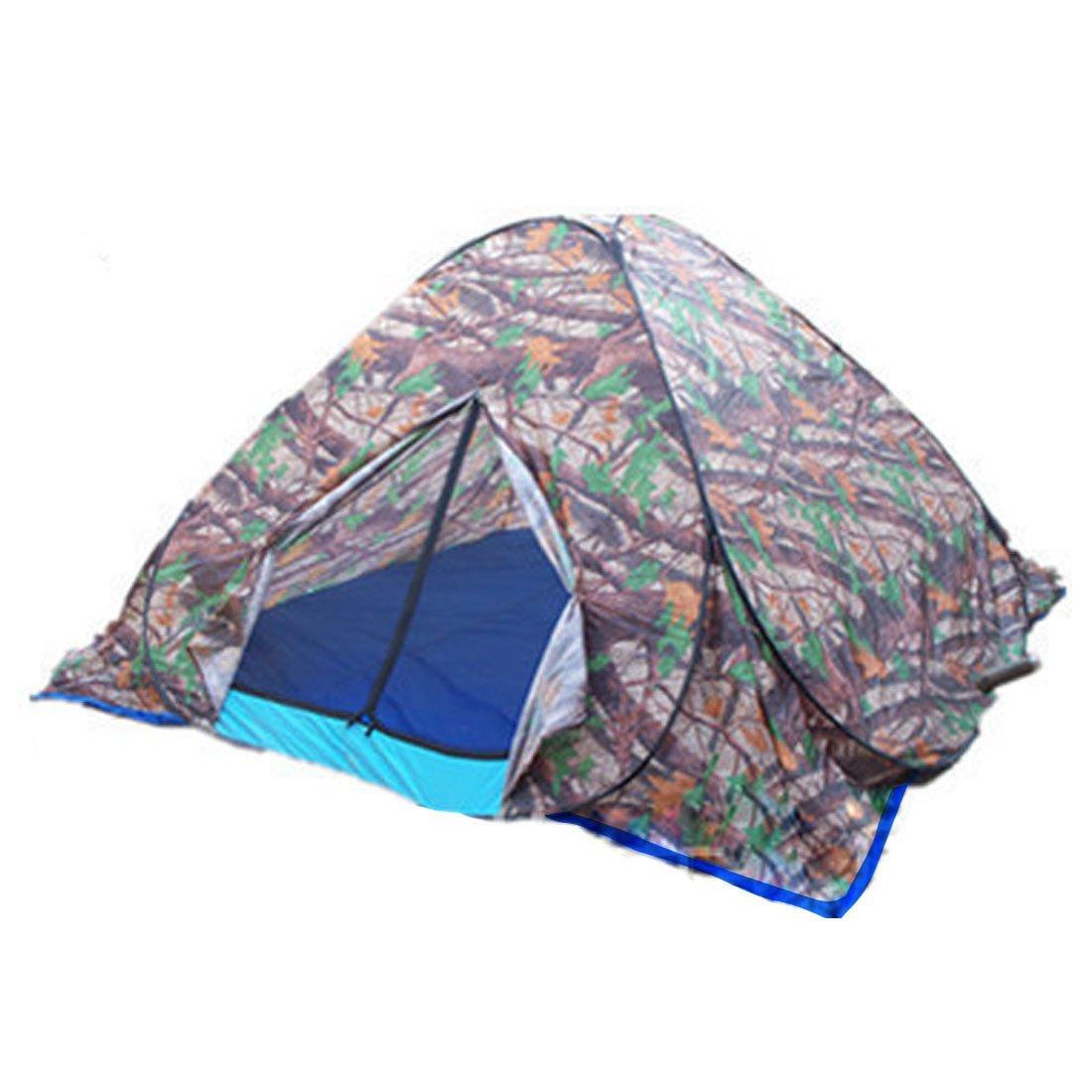 Hi Suyiアウトドアポータブル迷彩防水自動2 Man Pop Up Tent with Windowsキャンプハイキングバックパッキングビーチ釣り旅行with Carryバッグ  Tree camouflage 1.5x1.5 m B074FYK86Y