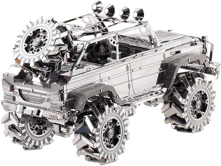 piececool 3D Lasergeschnittenes DIY-Auto Metall Modell Metallmodell-Puzzles f/ür Erwachsene-SUV OFF-ROAD-FAHRZEUG-157pcs