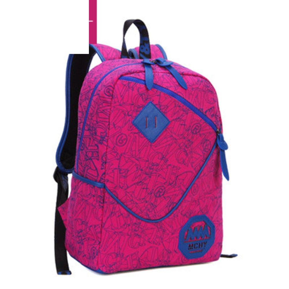 Backpack girls/Korean wave canvas bag/High school students school bags/Oxford computer bags-G
