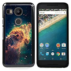 "Qstar Arte & diseño plástico duro Fundas Cover Cubre Hard Case Cover para LG GOOGLE NEXUS 5X H790 (Galaxy Espacio de Polvo Gas Estrellas Cluster Amarillo"")"