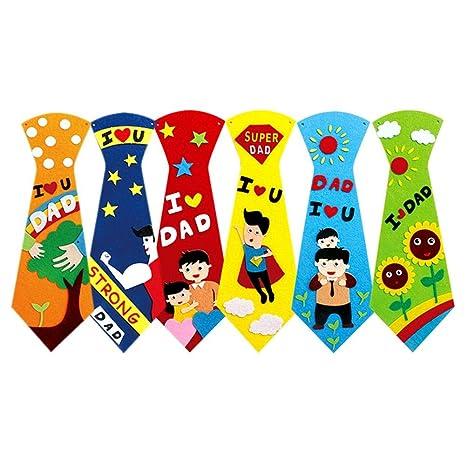 Bright Creative Crafts - Corbatas de bricolaje para niños, hechas ...