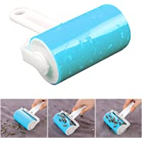 DANSPEED Reusable Washable Lint Roller Sticky Silicone Dust Pet hair Remover Cleaning Brush with Cover for Pet Cloth Furniture (Blue)