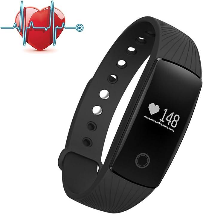 Savfy Pulsera Inteligente, Deportes Pulsera Reloj de Pulsera Teléfono Celular Mate con Podómetro con Pantalla Táctil Sms de Llamada Bluetooth 4.0, Compatible con Iphone y Android Smartphone: Amazon.es: Electrónica