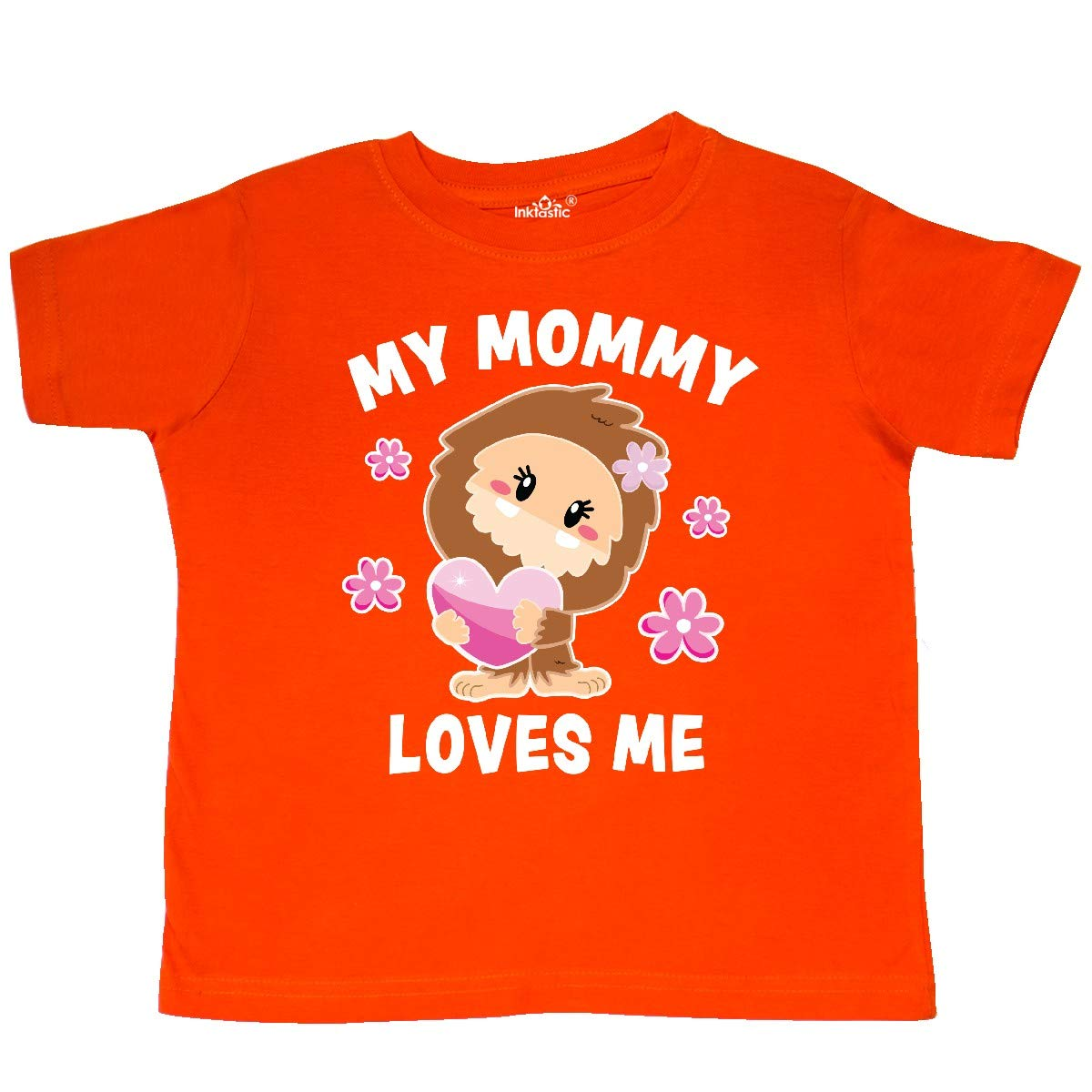 inktastic My Mommy Loves Me with Bigfoot Toddler T-Shirt