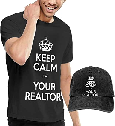 QqZXD Keep Calm Im Your Realtor Fashion Mens T-Shirt and Hats Youth /& Adult T-Shirts