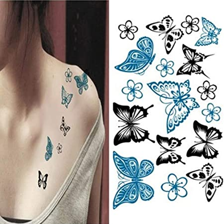 Sunnyday Mariposa Impermeable Tatuaje Pegatina Hembra Aves Tatuaje ...