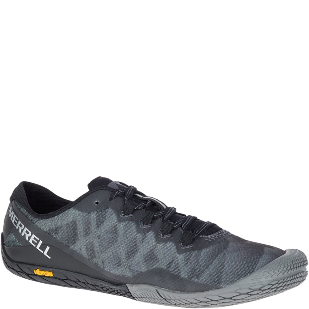 Merrell Women's Vapor Glove 3 Sneaker, Black/Silver, 7 M US