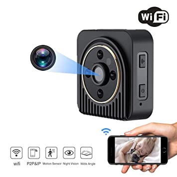 GNB Mini cámara espía, inalámbrica WiFi cámara IP Motion HD DV Grabador de vídeo Ocultos Noche visión Inicio vigilancia cámara de Seguridad: Amazon.es: ...